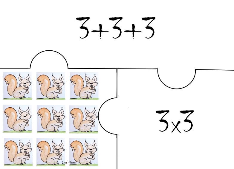 carte écureul 3x3