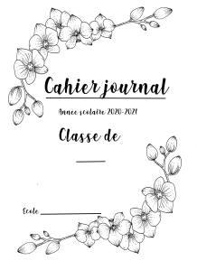 cahier journal orchidées